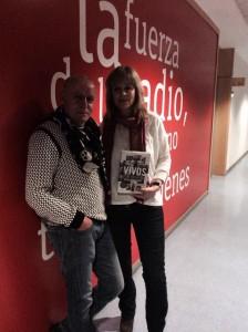Montserrat Llor con Miguel Blanco en RNE