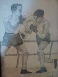 Paulino, boxeador campo nazi dibujo