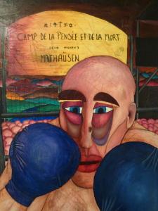 Paulino, boxeador campo nazi pintura