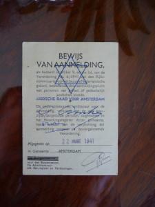Número Identificación que le dieron los nazis